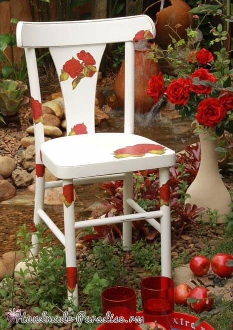 Декупаж на кухонных стульях (3)
