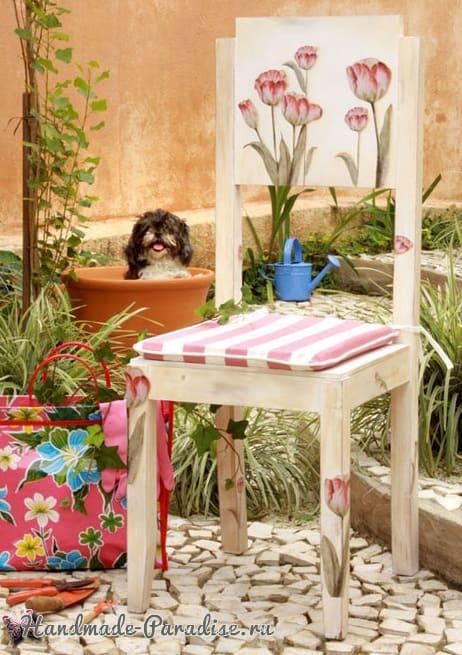 Декупаж на кухонных стульях (4)