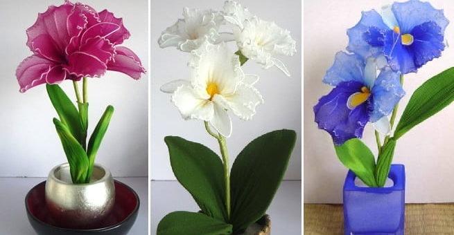 Орхидея Каттлея из капрона (1)
