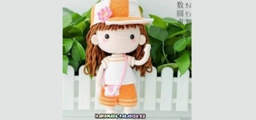 Куколка амигуруми в кепке