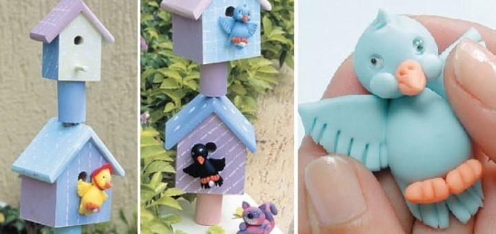 Лепные сувениры. Птички из полимерной глины (2)
