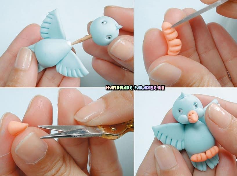 Лепные сувениры. Птички из полимерной глины (5)