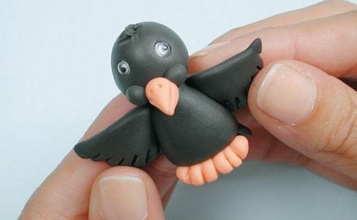 Лепные сувениры. Птички из полимерной глины (6)