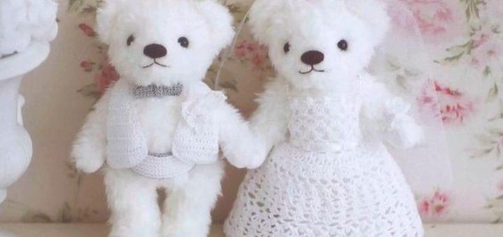 Свадебный наряд крючком для медвежат