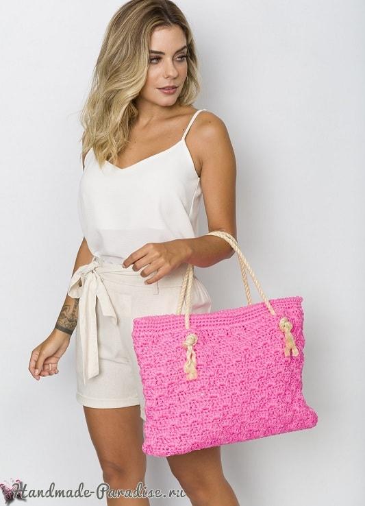 Пляжная сумка крючком. Схемы вязания (1)