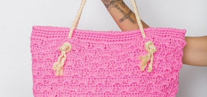 Пляжная сумка крючком. Схемы вязания (2)