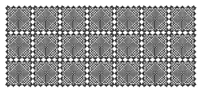 Салфетка-дорожка крючком из крупных мотивов (1)