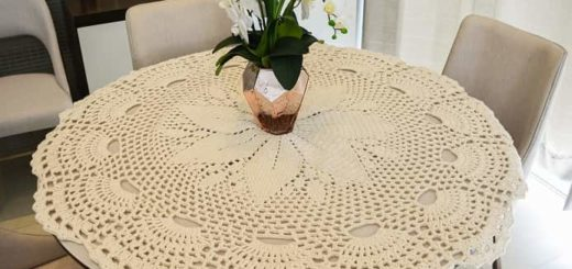 Скатерть крючком для круглого столика (1)