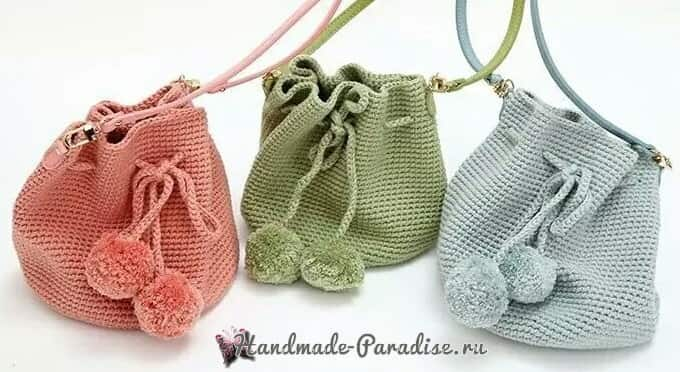 Модная сумка-ведро крючком (1)