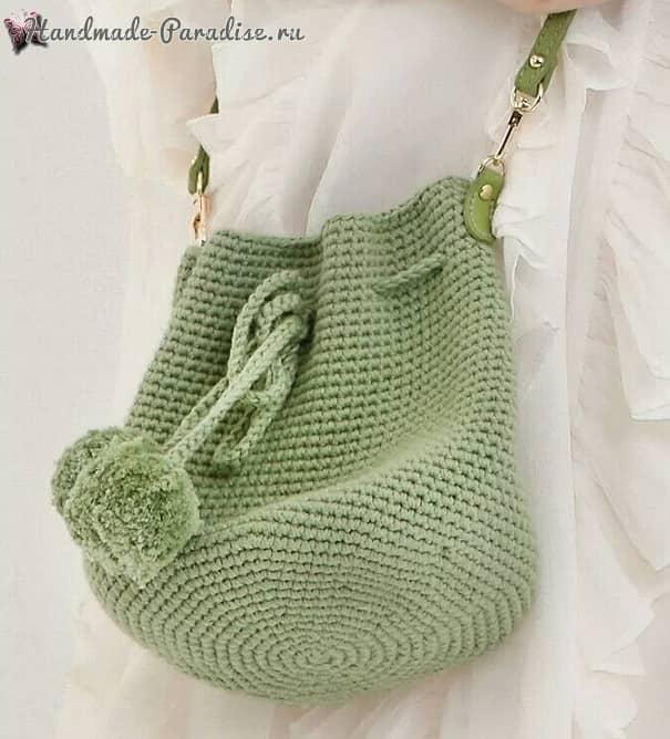 Модная сумка-ведро крючком (4)
