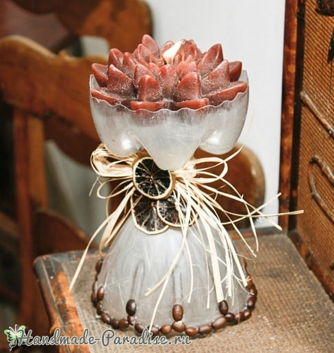 Декоративная ледяная ваза из пластиковой бутылки (2)