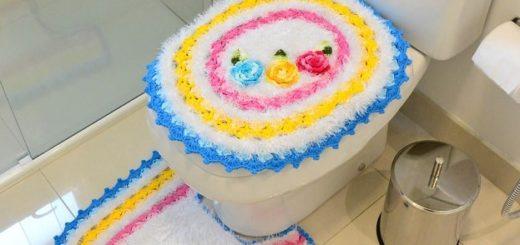 Комплект ковриков «Цветочное суфле на сливках» крючком (1)
