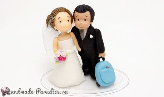 Лепка жениха и невесты для свадебного подарка (1)