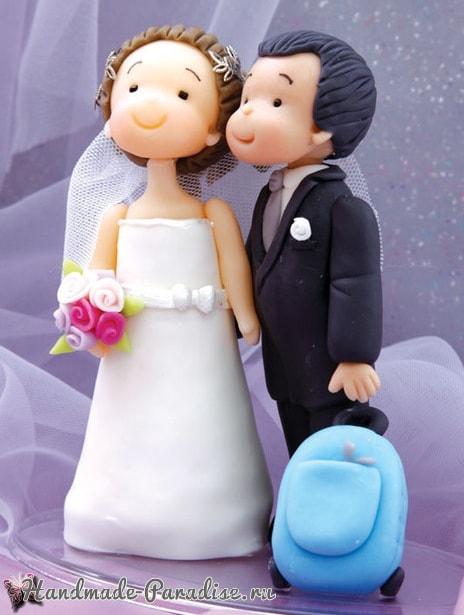 Лепка жениха и невесты для свадебного подарка (2)