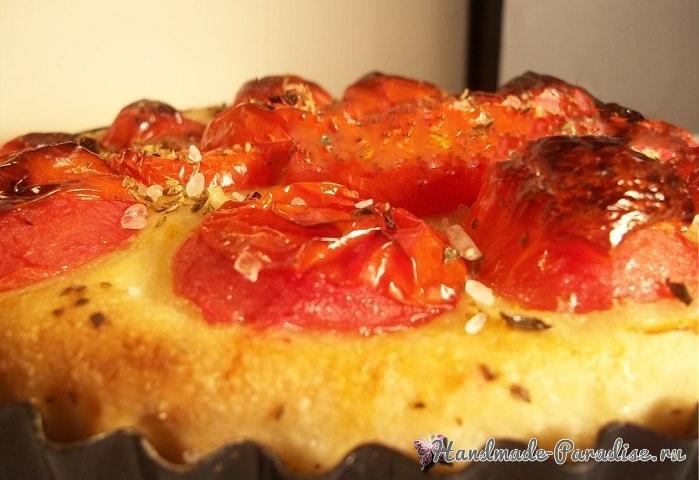 Итальянская фокачча с помидорами и картофелем (1)