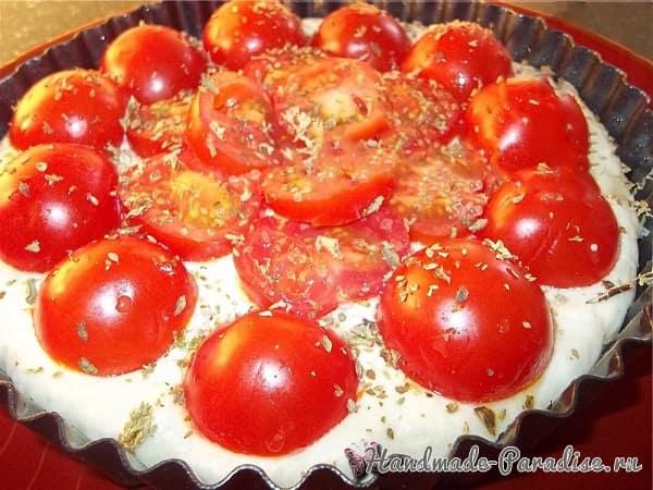 Итальянская фокачча с помидорами и картофелем (2)