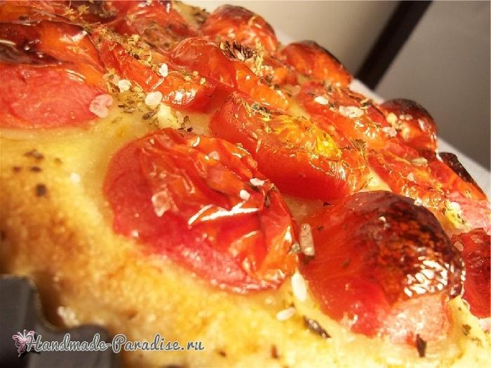 Итальянская фокачча с помидорами и картофелем (3)