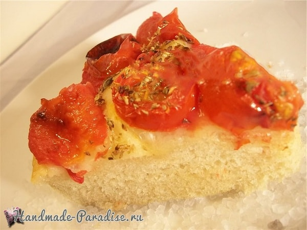 Итальянская фокачча с помидорами и картофелем (4)