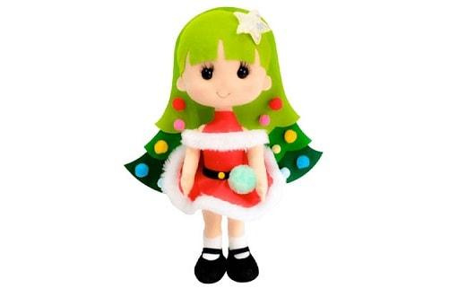 Куколка «Новогодняя елочка» из фетра (8)