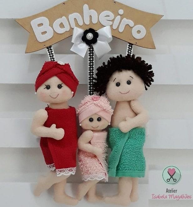 Куколки из фетра для декора в ванную комнату (1)