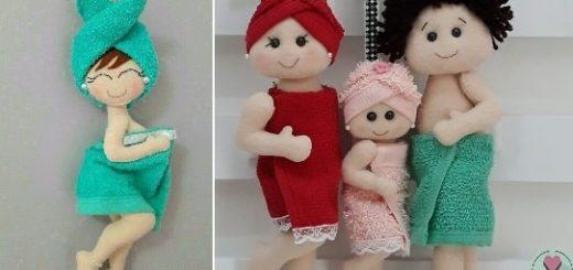 Куколки из фетра для декора в ванную комнату (2)