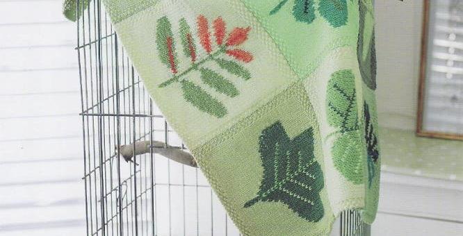 Плед «Листопад» спицами. Схемы вязания (1)