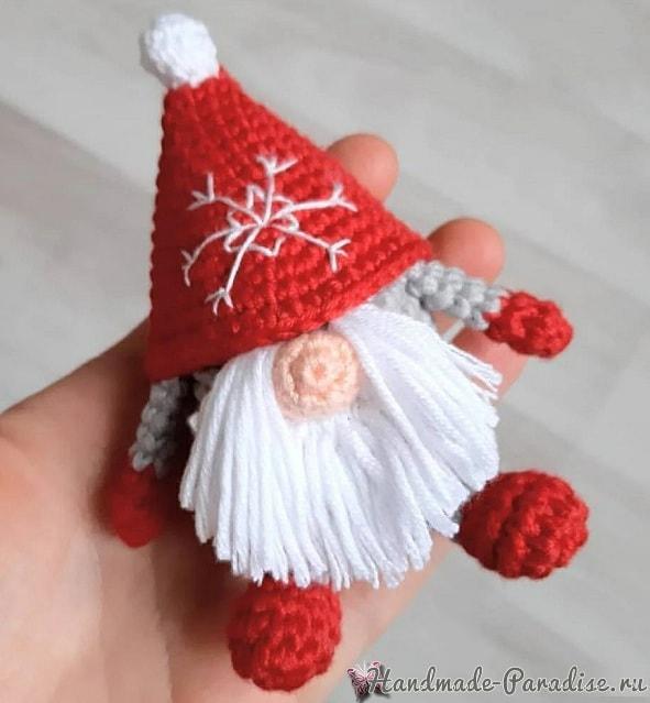 Санта-Клаус крючком. Вязание игрушки амигуруми (2)