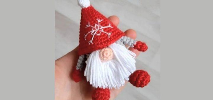 Санта-Клаус крючком. Вязание игрушки амигуруми