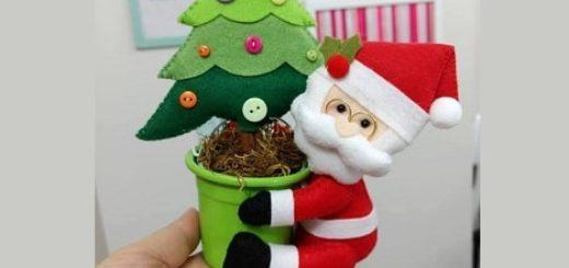 Санта-Клаус с елочкой из фетра (1)