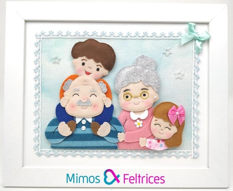 Семейный портрет из фетра (3)