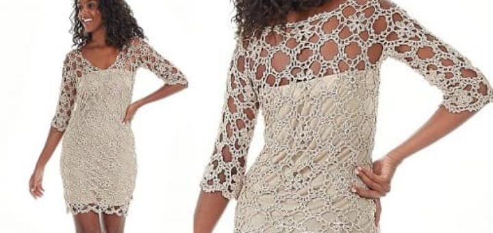 Ажурное платье крючком из мотивов (2)