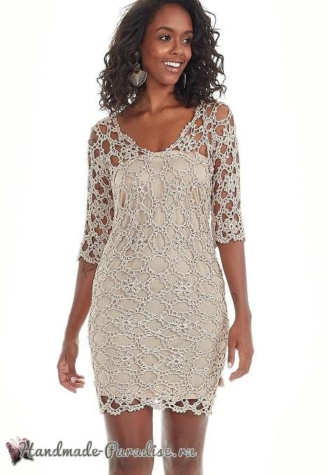 Ажурное платье крючком из мотивов (3)