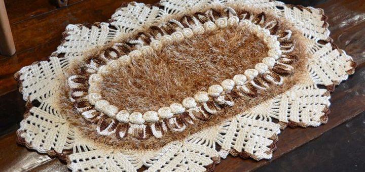 Очень красивый коврик «Каравелла» крючком (1)