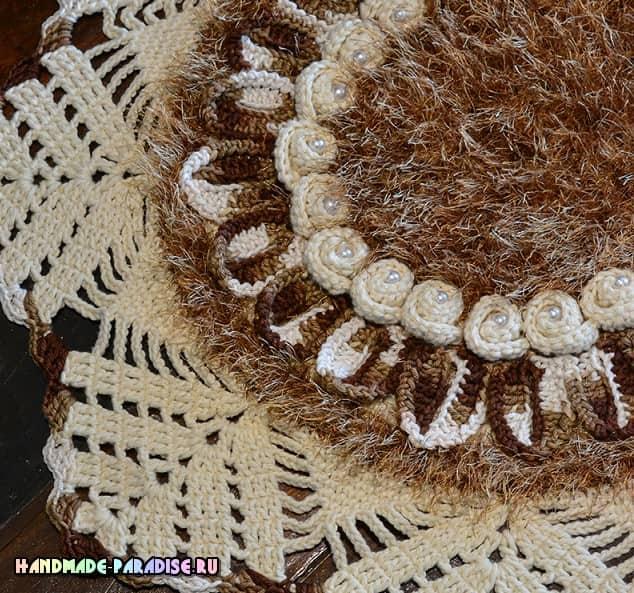 Очень красивый коврик «Каравелла» крючком (2)