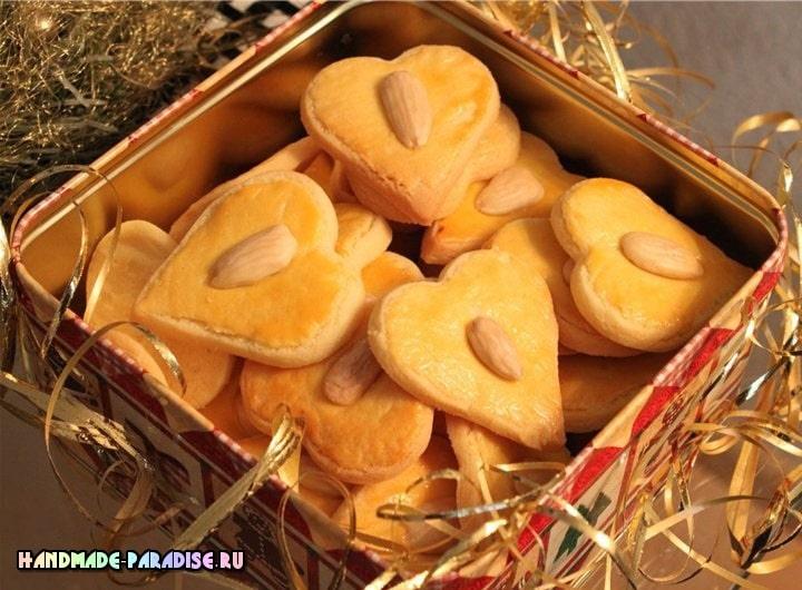 Миндальное печенье «Валентинки». Рецепт