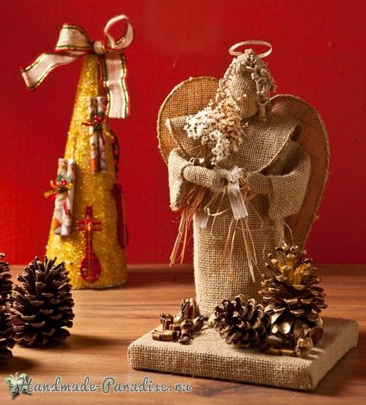 Рождественские ангелы своими руками (11)