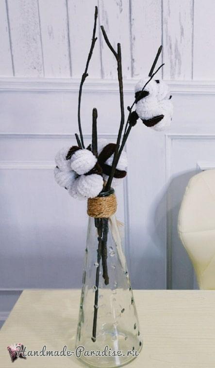 Цветы хлопка из синельной проволоки (1)