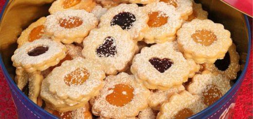 Хрустящее печенье с джемом. Рецепт (1)