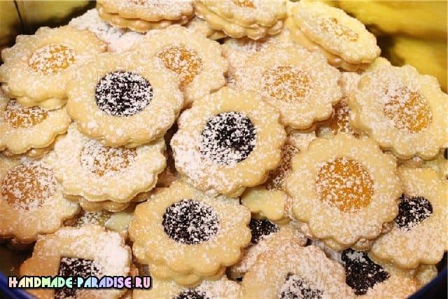 Хрустящее печенье с джемом. Рецепт (4)