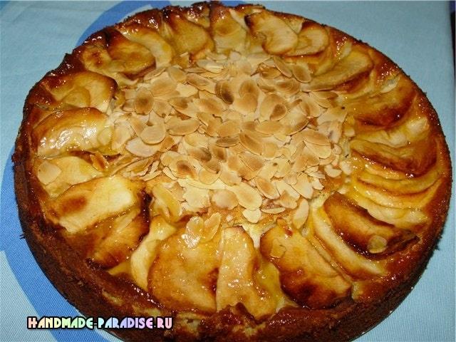 Миндально-яблочный пирог. Вкусный рецепт