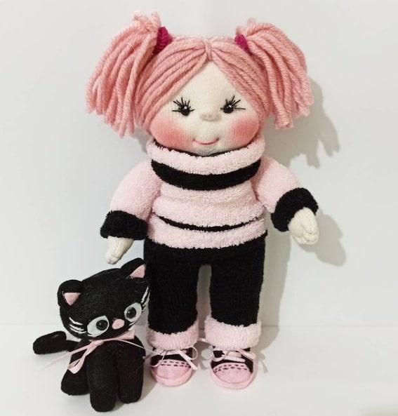 Как сшить куколку из носков. Мастер-класс (1)