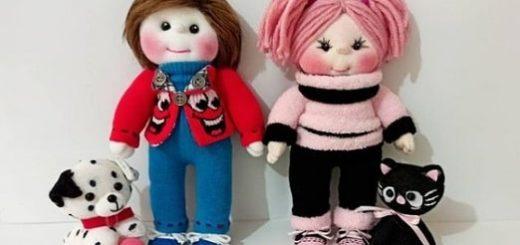 Как сшить куколку из носков. Мастер-класс (2)