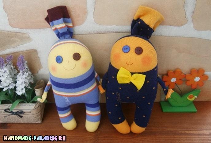 Забавные куколки из носков. Мастер-класс (1)