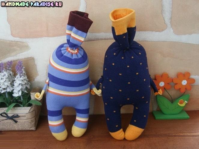 Забавные куколки из носков. Мастер-класс (2)