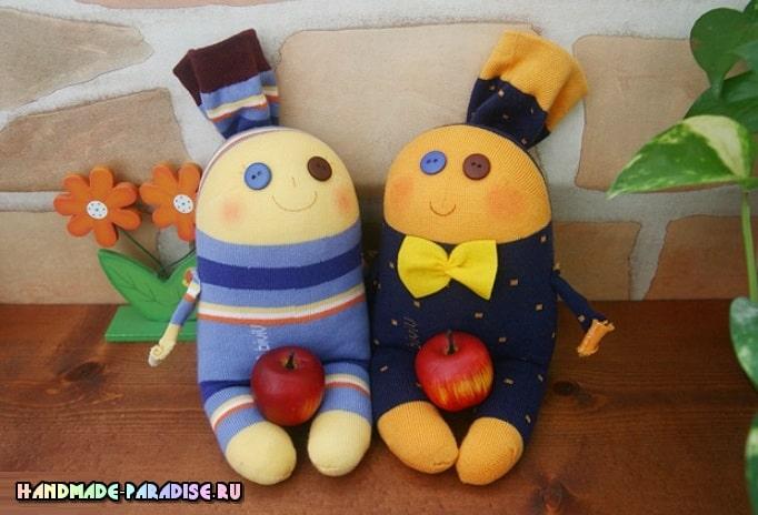 Забавные куколки из носков. Мастер-класс (3)