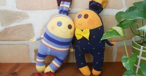 Забавные куколки из носков. Мастер-класс (4)
