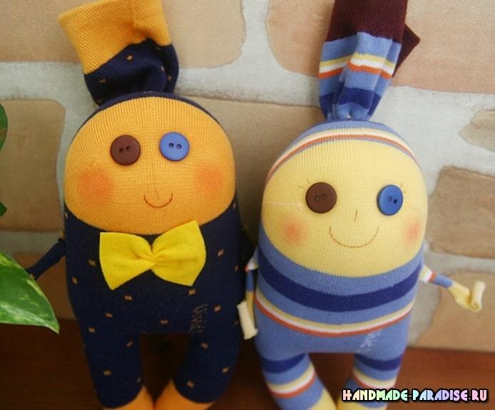 Забавные куколки из носков. Мастер-класс (8)