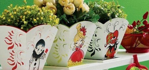 Шаблоны для росписи цветочных кашпо
