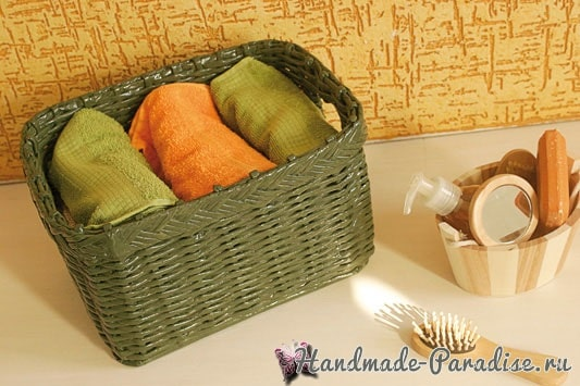 Плетение корзинки для ванной комнаты (1)