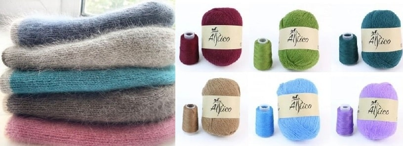 Модная пряжа для вязания пух норки (2)